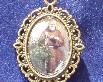 Padre Pio Religious Medal, Patron of Civil defense volunteers, Adolescents, Stress relief,