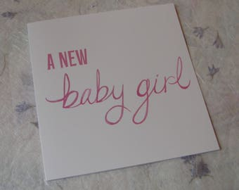 New Baby Card, New Baby Boy Card, New Baby Girl Card, New Baby Personalised Card, Congratulations on the Birth