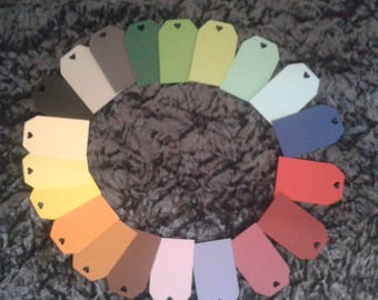 10 x Colourful Gift Tags, Personalised Wedding Tags, Custom Tags, Personalized Tags, Thank You Tags,
