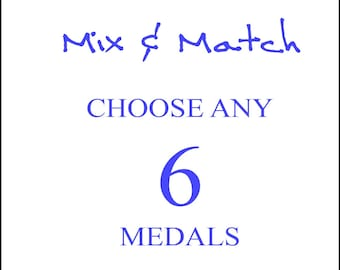 Mix and Match - Choose any 6 Religious Medals, Reduced Price and Shipping