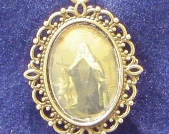 Saint Margaret Cortona Religious Medal, Patron saint of Tramps, Against Insanity, Against Mental Illness, midwives,