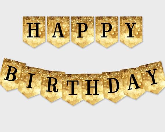 Personalizado Brillo Y Brillo Feliz Cumpleaños Fiesta Bandera empavesado X 12