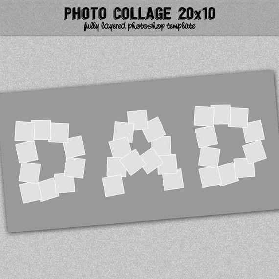 Papa Collage Vorlage Foto-Drehbuch Instagram Fotocollage 20