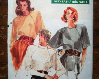 Vogue Printed Pattern ~ Vogue 7044 ~ Sizes 8 to 12 ~ 1987 Misses' / Half Size Blouse