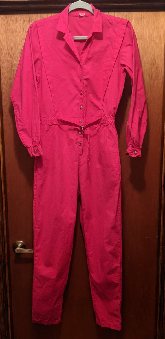 Vintage 80s JUMPSUIT OVERALLS Made In India SMALL