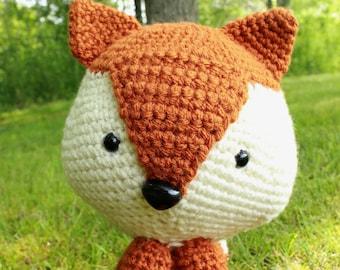 Felix the Fox | Crochet amigurumi toy fox stuffed animal |Woodland fox creature | made to order