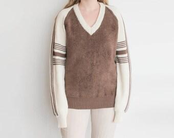 Vintage Brown Stripe Sweater