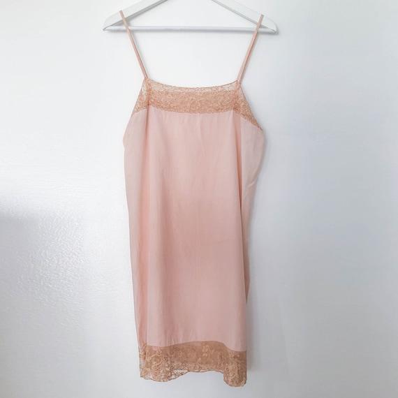 Vintage Pink Slip Lace Trim 30s