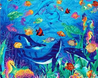 P/&B Textiles Big Panel Underwater Fantasy