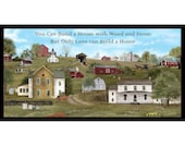 Only Love Can Build A Home - Amish Farm Life - Pattern 4705 - Elizabeth Studio Headin 39 Home - 2 3 Yard Fabric Panel - 100 Cotton Woven