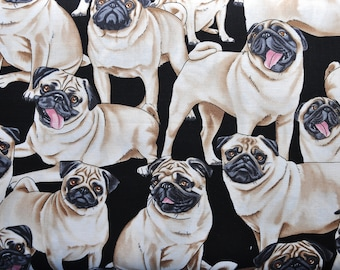 CUSTOM MEN'S BOXERS, Made to Order, Pugs, Choose Size