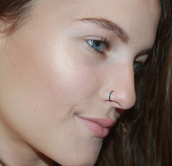 Fake Nose Ring Clip On Nose Ring Faux Nose Ring Hoop Etsy