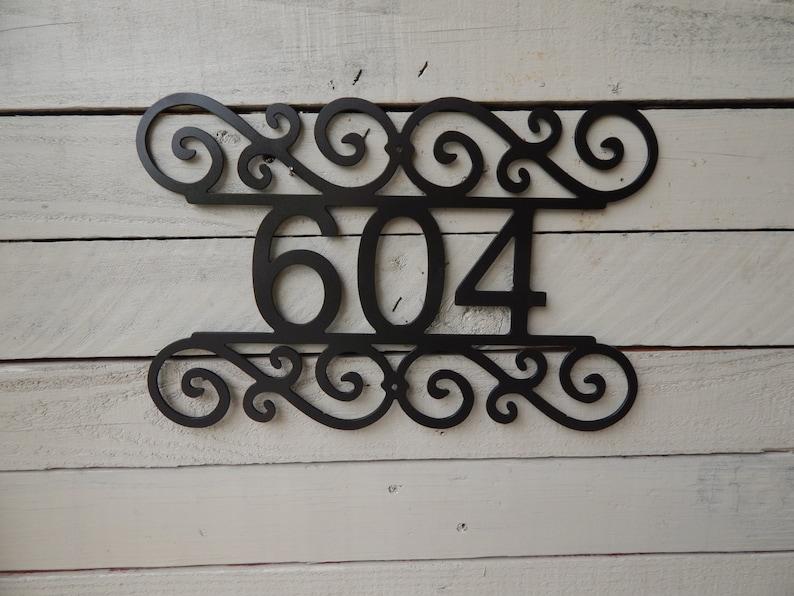 Address Number Folk Art Metal Art Number Sign Outdoor Wall Art Mailbox Number HN1005 House Sign House Number Metal Sign Door Number