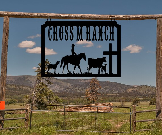 Deer and Bear S1319 Personalized Large Farm Entrance//Gate Sign Wildlife