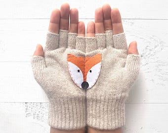 Fox Gloves, Wildlife Kingdom, Sales Event, Fox Lover Gift, Animal Gift, Gift For Friend, Wildlife Gift, Mother's Gift, Women Gloves, Sales