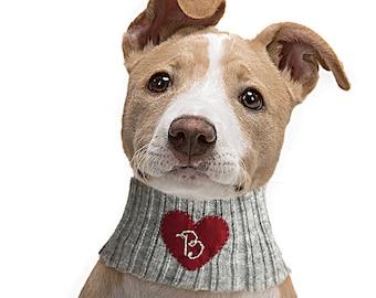 Personalized Pet Gift, Dog Neck Warmer, Pet Accessories Monogram Dog Neckwear, Custom Neck Warmer, Dog Clothing, Pet Gift, Personalized Gift