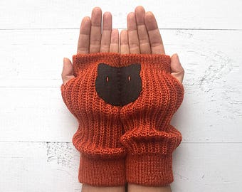 Cat Arm Warmers, Mother's Day Gift, Gift For Her, Cat Lover Gift, Couple Gloves, Cat Gloves, Winter Gift For Her, Gift For Mom, Women Mitten
