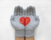 Initial Gift, Mother Gift, Winter Gloves, Personalized, Gift For Her, Step Mom, Monogram Gift, Women Mitten, Women Gift, Gift Wife