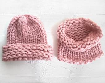 Gift For Women, Chunky Set, Neck Warmer, Chunky Hat, Women , Wool Cowl, Gift For Her, Women's Gift, ' Gift, Gift For Mom