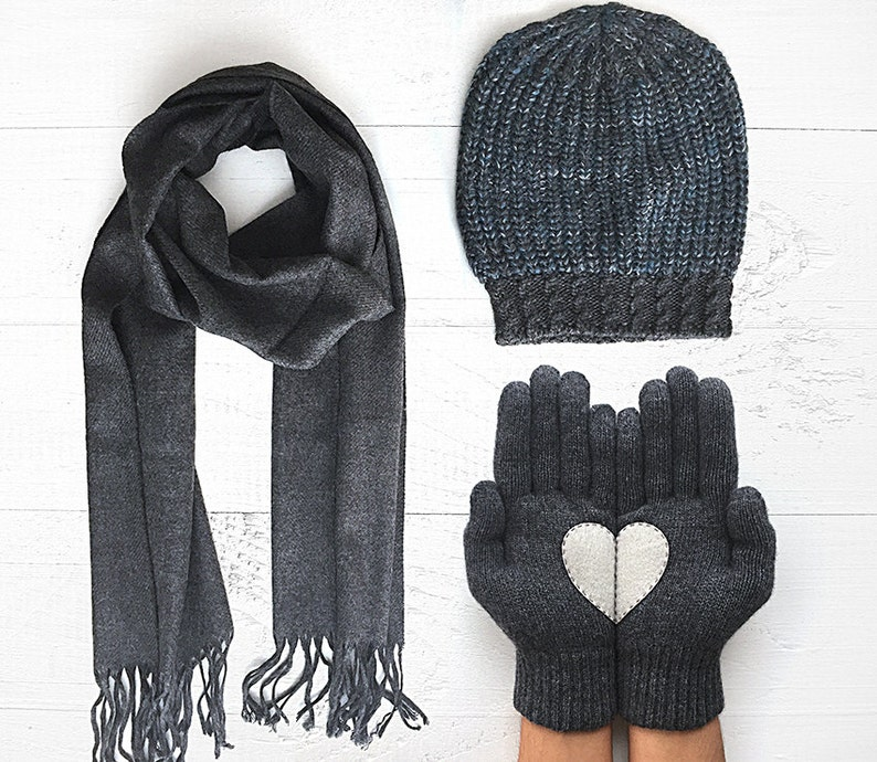 a4506e8a5eb Mens Valentines Day Gift Husband Valentines Winter Set Gift