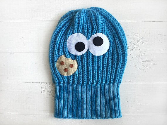 Valentines Day Kid Gifts Kids Beanie Cookie Monster Toddler Hat Knit Beanie Boys Fashion Valentine For Kids Gift For Boys Funny Gift