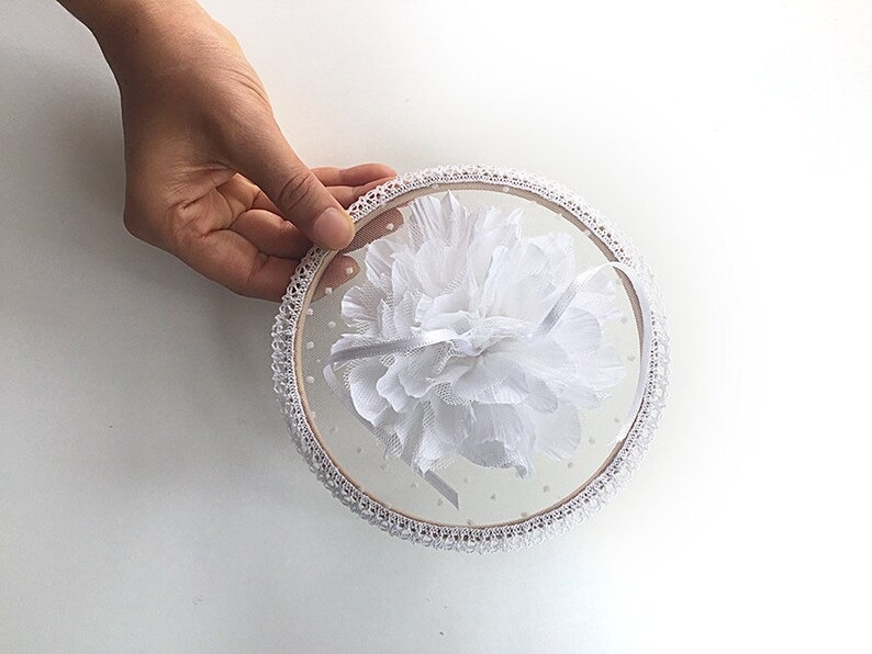 Unique Ring Pillow Floral Ring Holder Ring Pillow Alternative Flowers Boho Wedding Wedding Ring Holder Ring Holder Floral Ring Holder