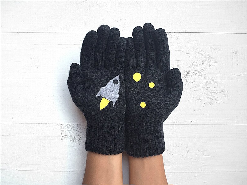 Winter Warm Couple Gloves Christmas Xmas Lovers Gift Sweethearts Mittens FI