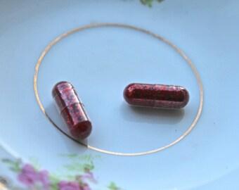 Glitter Pills in Vintage Lipstick
