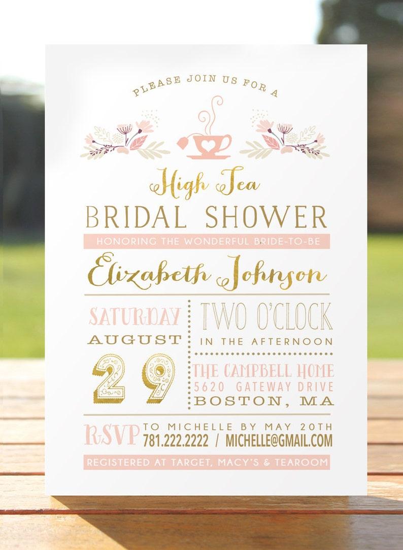 ae182549264 Bridal Tea Party Invitation Bridal Shower Invite Bridal