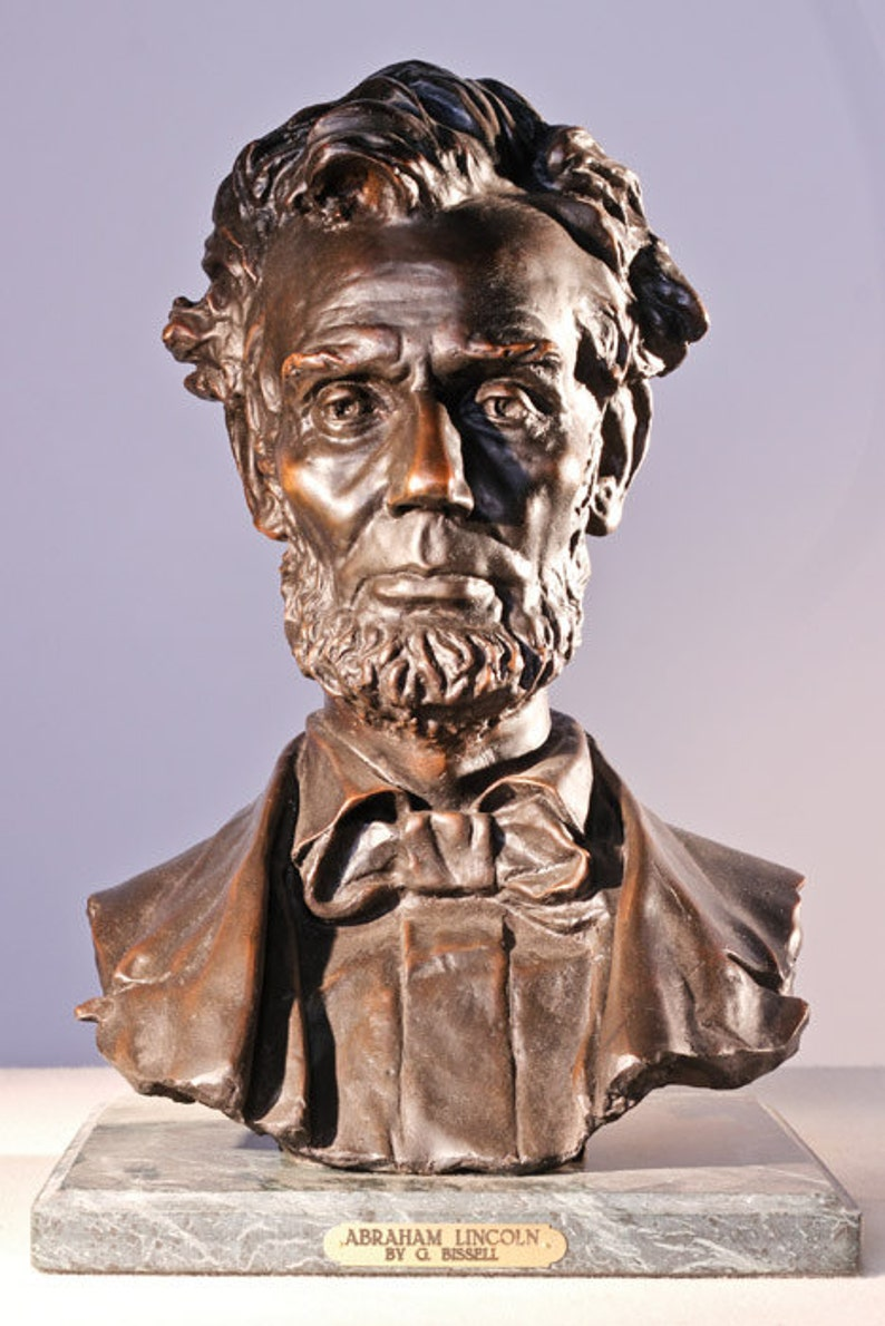 President Abraham Lincoln Bust Statue Historical Figure