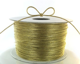 1 x Pale Gold Plated Copper 0.8mm x 6m Round Craft Wire Hanging Reel X1155