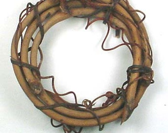 "12 3"" Grapevine Mini Round Wreath Craft Supply Wholesale Lot Grape Vine"
