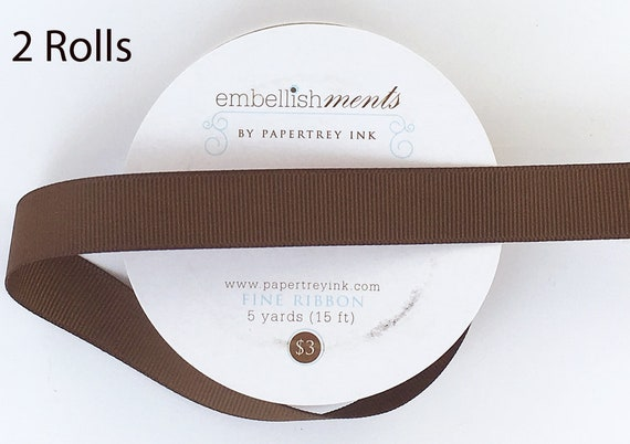 """Stampin/' Up New FREE SHIP! Retired 25 yds Chocolate Grosgrain Ribbon 1//4"""""""