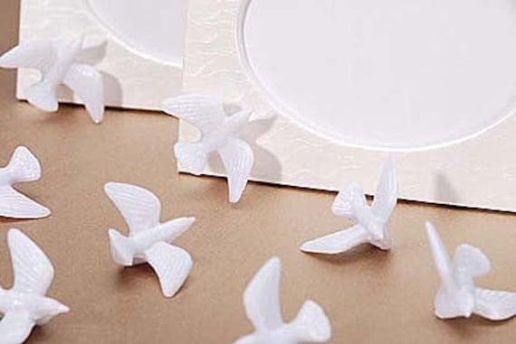 144 White Mini Dove Wedding Favors Decorations Plastic Etsy