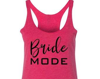 BEACH Mode Racerback Tank Top - Womens Ladies Workout - Triblend Workout  Fitness Summer Tank Top Shirt - S M L Xl Xxl bf5b69373