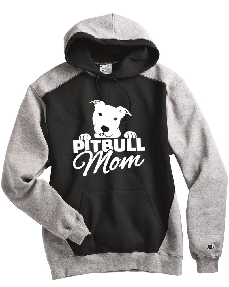 87b86b9e PitBull Champion Sweatshirt Pitbull Mom Peeking Pit Unisex | Etsy