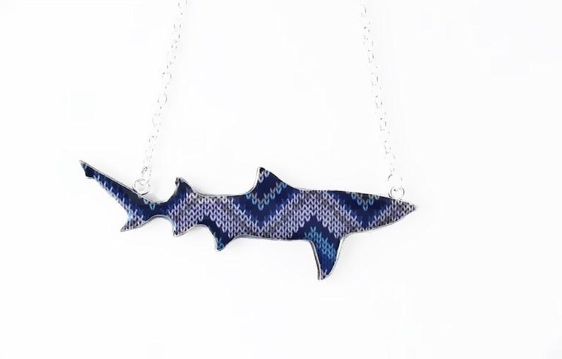 Wooly Jumper Print Lemon Shark Necklace image 0