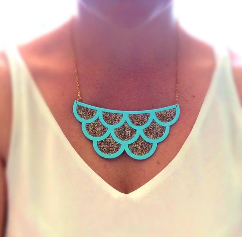 Glitter Mermaid Scales Necklace image 0