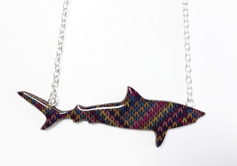 Wooly Jumper Tiger Shark Necklace image 0