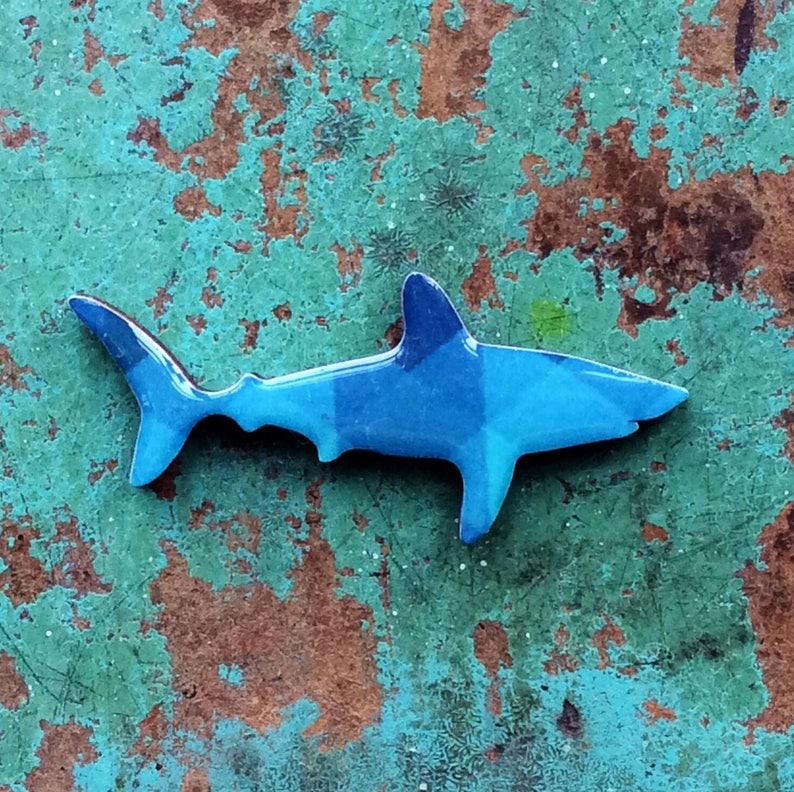 Shark Necklace    Porbeagle Shark Necklace Handmade by image 0