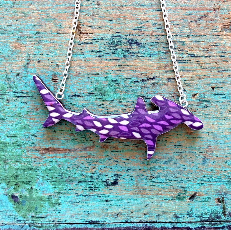 Shark Necklace  Great Hammerhead Shark Necklace  Handmaid by image 0