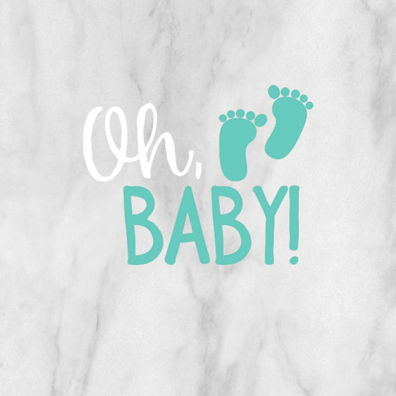 Oh Baby Decal / baby decal / personalized decal / baby image 1