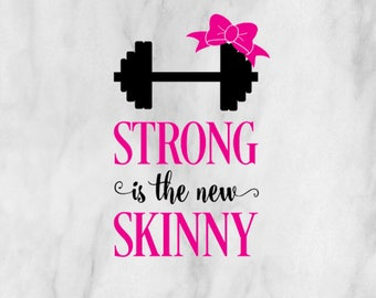 Strong is the New Skinny Decal / Monogram sticker / yet cooler monogram decal / laptop decal / car decal /circle monogram