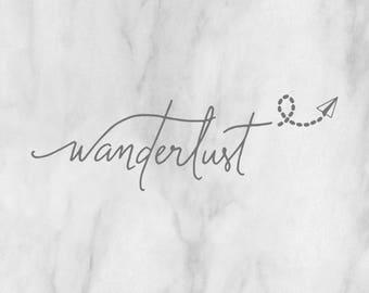 Wanderlust Decal / custom decal / traveling decal / traveling sticker / wanderlust sticker / adventure decal