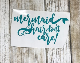 Mermaid Hair / car decal / personalized decal / car sticker / mermaid decal / mermaid sticker / monogram decal /