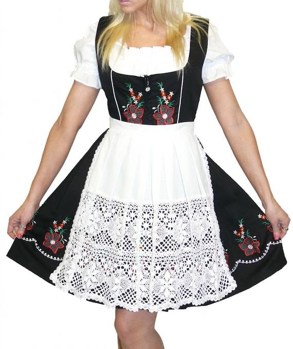 Femmes Costumes Chaussettes Costumes Bas tresse en blanc German Wear