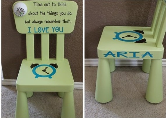 & Personalized Time Out Chair With Timer