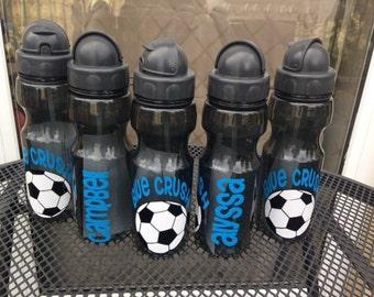 SALE Personalized Boy Soccer Team Water Bottle 20oz