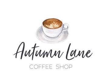 Premade Logo Design, Watermark Logo, Bakery Logo, Cafe Logo, Watercolor Logo, Coffee Logo, Tea Logo, Blog Logo, Coffee Shop Logo