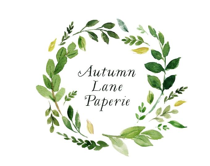 Premade Logo Design, Watermark Logo, Website Logo, Business Logo, Floral Logo, Watercolor Logo, Floral Branding, Leaf Wreath Logo